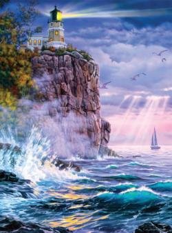 Keeping the Light Seascape / Coastal Living Jigsaw Puzzle