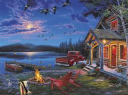 The Perfect Getaway Cottage / Cabin Jigsaw Puzzle