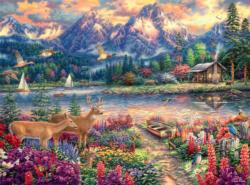 Spring Mountain Majesty Lakes / Rivers / Streams Jigsaw Puzzle