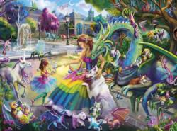 Dragon's Garden Unicorns Jigsaw Puzzle