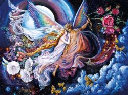 Eros and Psyche (Glitter Edition) Night Jigsaw Puzzle