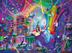 Magic Study Bookshelves Jigsaw Puzzle