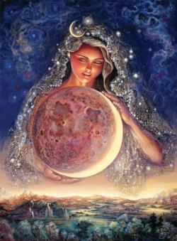 Moon Goddess (Glitter Edition) Graphics / Illustration Jigsaw Puzzle