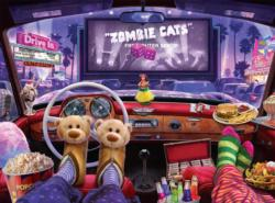 Night at the Drive-in Night Jigsaw Puzzle