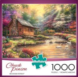 Brookside Retreat Cottage / Cabin Jigsaw Puzzle