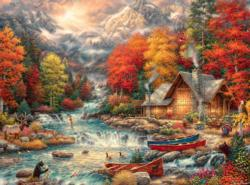 Treasures of the Great Outdoors Cottage / Cabin Jigsaw Puzzle