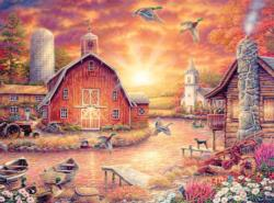 Honey Drip Farms Sunrise / Sunset Jigsaw Puzzle