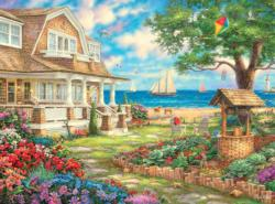 Sea Garden Cottage Cottage / Cabin Jigsaw Puzzle