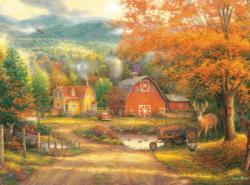Country Roads Take Me Home Fall Jigsaw Puzzle