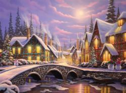 A Snowy Christmas Domestic Scene Jigsaw Puzzle