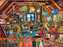 Grandma's Attic Domestic Scene Jigsaw Puzzle