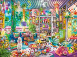 Kitschy Cute Domestic Scene Jigsaw Puzzle