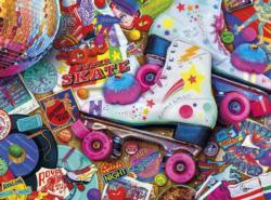 Skate Night Collage Jigsaw Puzzle