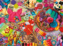 Vintage Yarns Everyday Objects Jigsaw Puzzle