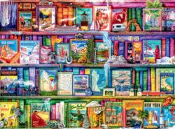 Travel Trinkets Bookshelves Jigsaw Puzzle