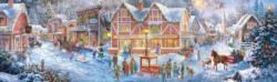 Christmas Village Snow Panoramic Puzzle