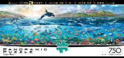 The Big Blue Sea Fish Panoramic Puzzle