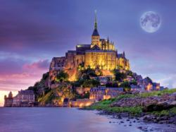 Mont Saint Michel, France (Majestic Castles) Lakes / Rivers / Streams Jigsaw Puzzle