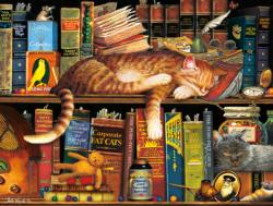 Cat Tales (The Cats of Charles Wysocki) Folk Art Jigsaw Puzzle