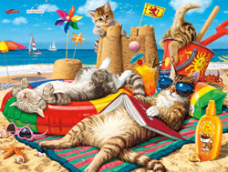 Beachcombers Cats Jigsaw Puzzle