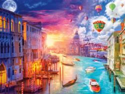 Venice, City on Water Sunrise / Sunset Jigsaw Puzzle