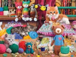 Crochet Kittens Nostalgic / Retro Jigsaw Puzzle