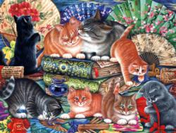 Cats and Fans Cats Jigsaw Puzzle