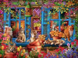 Cats Fantasy Domestic Scene Jigsaw Puzzle