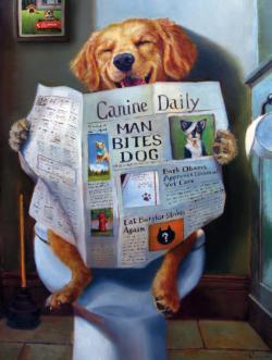 Dog Gone Funny Graphics / Illustration Jigsaw Puzzle