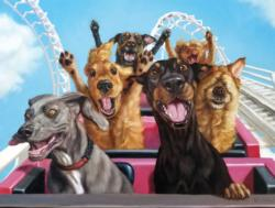 Fun at the Amusement Bark Dogs Jigsaw Puzzle