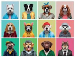 Canine Collage Collage Jigsaw Puzzle