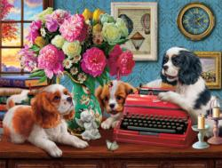 The Writer's Dogs Dogs Jigsaw Puzzle