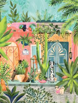 Dog Garden Garden Jigsaw Puzzle