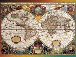 World Map, Circa 1630 Maps / Geography Jigsaw Puzzle