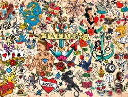Tattoopalooza Collage Jigsaw Puzzle