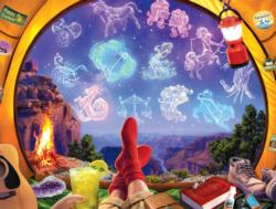Celestial Camp Out Night Jigsaw Puzzle