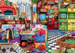 Pizza and Pixels Nostalgic / Retro Jigsaw Puzzle