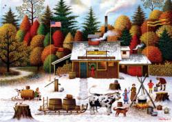 Vermont Maple Tree Tappers Nostalgic / Retro Jigsaw Puzzle