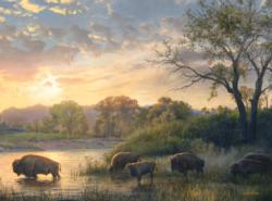 Crossing the Yellowstone National Parks Jigsaw Puzzle