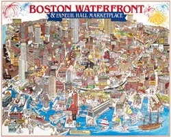 Boston Waterfront Boston Jigsaw Puzzle