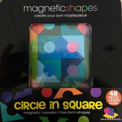 Circle in Square (Magna Shapes) Abstract Wooden Jigsaw Puzzle