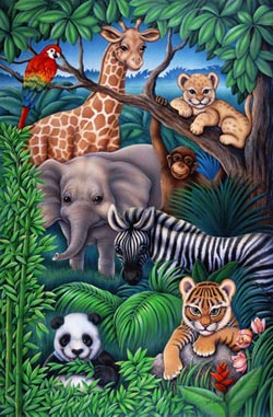 Animal Kingdom Elephants Children's Puzzles