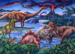 Dinosaur Playground Dinosaurs Jigsaw Puzzle