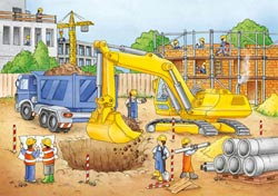 Busy Builders Vehicles Jigsaw Puzzle