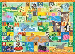 Alpha Animals Language Arts Children's Puzzles
