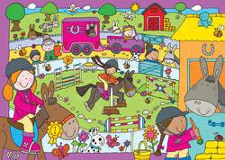 Pony Club Cartoons Jigsaw Puzzle