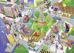Busy City Cartoons Children's Puzzles