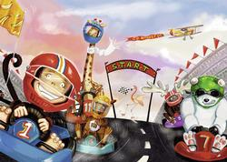 Go Monkey Go! Cartoons Children's Puzzles