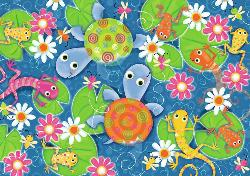 Colorful Reptiles Cartoons Children's Puzzles