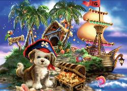 Puppy Pirate Pirates Jigsaw Puzzle